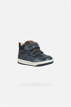 Geox βρεφικά sneakers με suede λεπτομέρεια