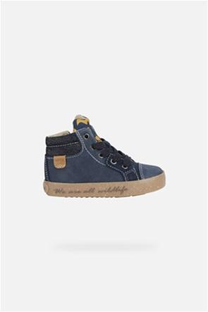 """Geox παιδικά sneakers  με print τιγράκι στη γλώσσα """"Kilwi"""""""