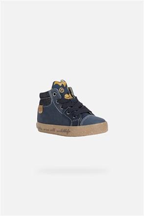 """Geox βρεφικά sneakers  με print τιγράκι στη γλώσσα """"Kilwi"""""""