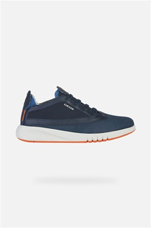 "Geox παιδικά suede sneakers με logo print ""Aeranter"""