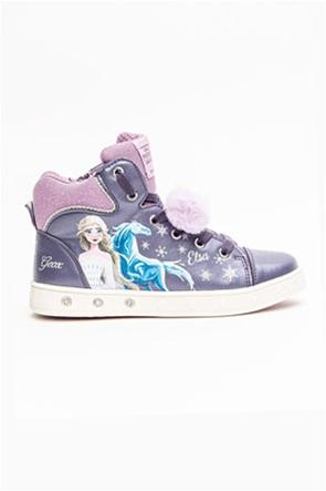 """Geox παιδικά μποτάκια με φωτάκια και print Frozen """"Skylin"""" (sizes 28-32)"""