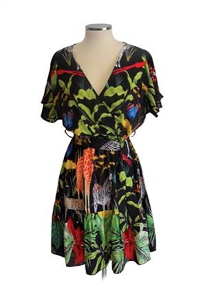 Lovely Hats γυναικείο mini φόρεμα με all-over tropical print