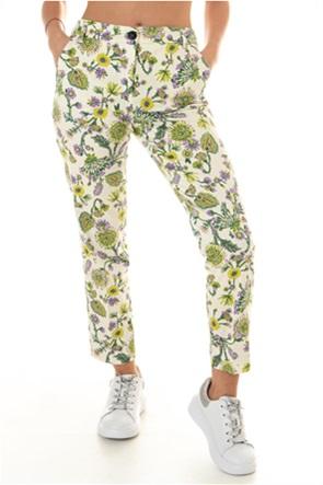 "Emme by Marella γυναικείο παντελόνι cropped με floral print ""Menthol"""