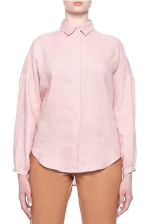 "Emme by Marella γυναικείο λινό πουκάμισο μονόχρωμο ""Licia"""