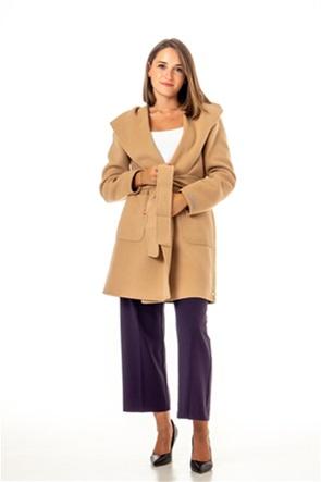 "Emme by Marella γυναικείο παλτό με κουκούλα μονόχρωμο ""Provola"""