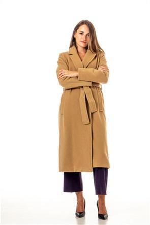 "Emme by Marella γυναικείο μακρύ παλτό μονόχρωμο με ζώνη ""Eliseo"""