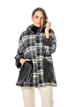 "Emme by Marella γυναικείο παλτό με κουκούλα και faux-leather τσέπες ""Palmira"""
