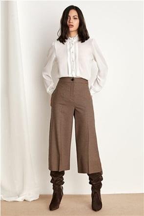 "Emme by Marella γυναικεία παντελόνα με καρό μικροσχέδιο ""Congo"""