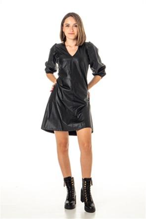 "Emme by Marella γυναικείο mini φόρεμα faux-leather ""Turkey"""