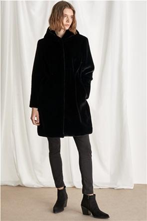 "Emme by Marella γυναικείο γούνινο παρκά με κουκούλα ""Lente"""