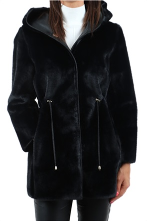 "Emme by Marella γυναικείο παλτό διπλής όψης με κουκούλα ""Αgile"""
