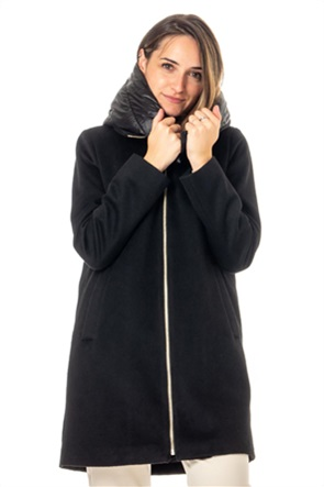 "Emme by Marella γυναικείο παλτό με καπιτονέ κουκούλα ""Decoction"""