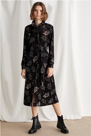 "Emme by Marella γυναικείο φόρεμα σεμιζιέ με print ""Nota"""