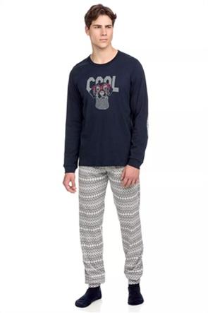 Vamp σετ ανδρικές πιτζάμες με graphic print
