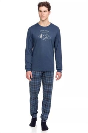 Vamp σετ ανδρικές πιτζάμες με καρό σχέδιο