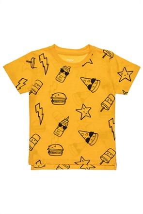 Alouette βρεφικό T-shirt με print και ασύμμετρο κόψιμο (12 μηνών-3 ετών)