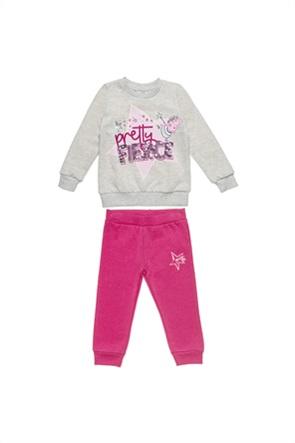 "Alouette παιδικό σετ ρούχων μπλούζα φούτερ με παγιέτα και παντελόνι ""Peppa Pig"" (2-6 ετών)"
