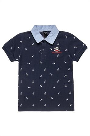 "Alouette παιδική πόλο μπλούζα με κέντημα και μικροσχέδιο ""Paul Frank"" (12 μηνών-5 ετών)"