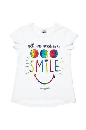 "Alouette παιδικό T-shirt με foil print ""Smiley"" (6-14 ετών)"