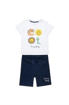 "Alouette βρεφικό σετ ρούχων T-shirt με print και σορτς ""Smiley"" (12 μηνών-3 ετών)"