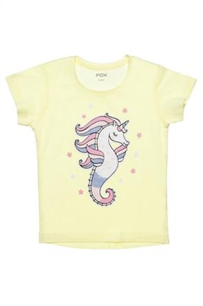 Alouette βρεφικό T-shirt με hippocampus print (12 μηνών-3 ετών)