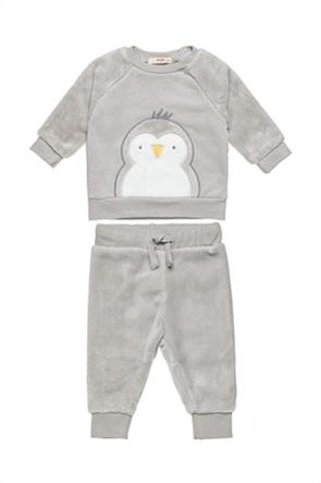 Alouette βρεφικό σετ ρούχων μπλούζα με κέντημα πιγκουινάκι και παντελονάκι (3-12 μηνών)
