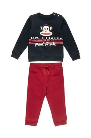 "Alouette παιδικό σετ ρούχων μπλούζα φούτερ με ανάγλυφο print και παντελόνι ""Paul Frank"" (12 μηνών -5 ετών)"