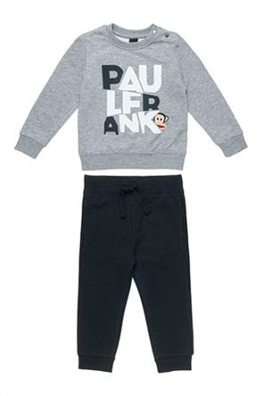 "Alouette παιδικό σετ ρούχων μπλούζα φούτερ με ανάγλυφο print και παντελόνι φόρμας ""Paul Frank"" (18 μηνών-5 ετών)"