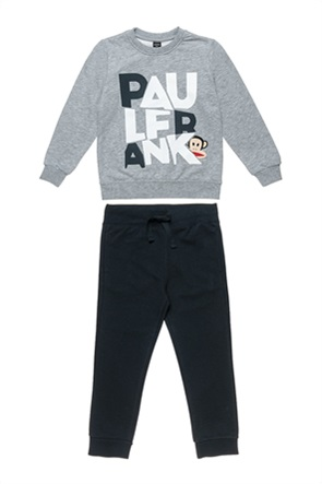 "Alouette παιδικό σετ ρούχων μπλούζα φούτερ με ανάγλυφο print και παντελόνι φόρμας ""Paul Frank"" (6-14 ετών)"