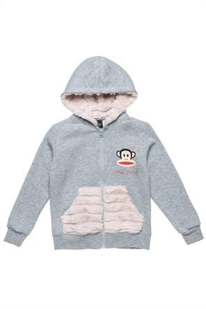 """Αlouette παιδική ζακέτα φούτερ με γούνα και graphic print """"Paul Frank"""" ( 2-5 ετών)"""