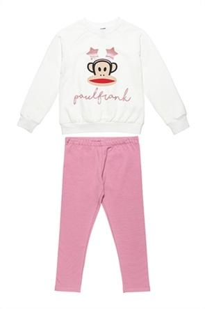"Alouette παιδικό σετ ρούχων μπλούζα φούτερ με print και παντελόνι φόρμας ""Paul Frank "" (6-12 ετών)"