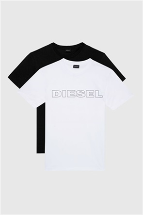 "Diesel ανδρικό σετ φανελάκια με logo print ""Jake"" (2 τεμάχια)"