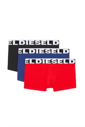 Diesel ανδρικό σετ εσωρούχων με logo print στο λάστιχο (3 τεμάχια)