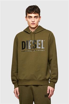 """Diesel ανδρική μπλούζα φούτερ με logo print """"Division"""""""