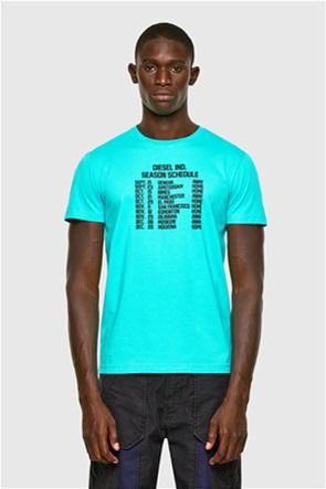 "Diesel ανδρικό T-shirt με ανάγλυφο print ""Diegos-A11"""