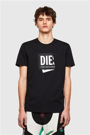 "Diesel ανδρικό T-shirt με folded logo patch ""T-Diegos-Lab"""