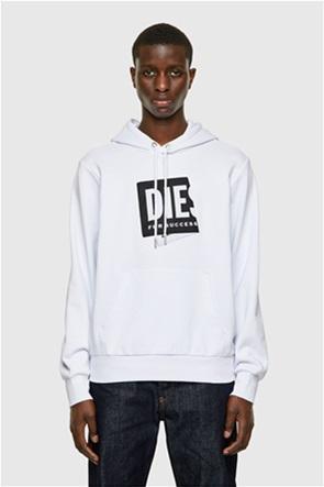 """Diesel ανδρική μπλούζα φούτερ με folded logo patch """"S-Girk"""""""