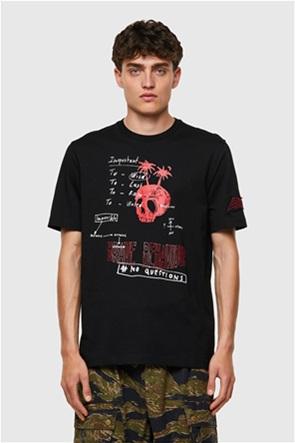 "Diesel unisex T-shirt με graphic print ""T-JUST-B61"""