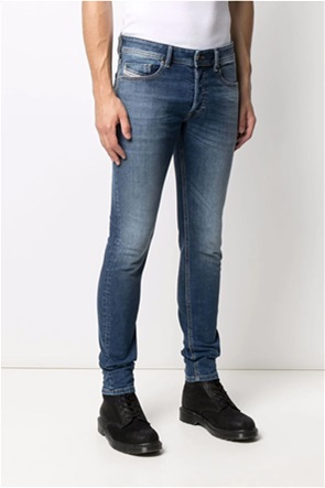 "Diesel ανδρικό τζην παντελόνι πεντάτσεπο με logo patch ""Sleenker Skinny Fit"""