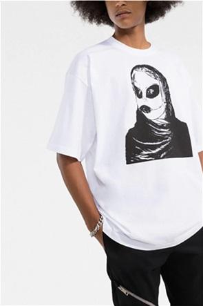 "Diesel ανδρικό T-shirt με graphic print ""Alien Green Label"""