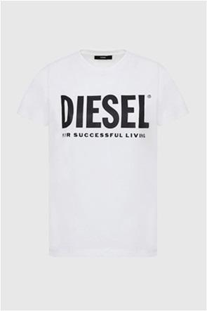 "Diesel γυναικείο T-shirt με foil letter print ""Sily_Wx"""