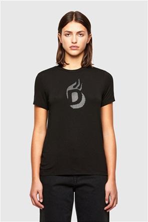 "Diesel γυναικείο T-shirt με ανάαγλυφο logo ""Sily-R1"""