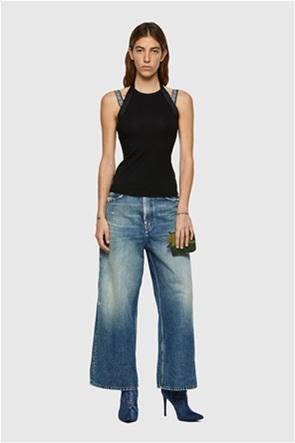 "Diesel γυναικεία μπλούζα με τιράντες με logo print ""T-Elan"""