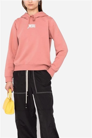 "Diesel γυναικεία μπλούζα φούτερ με logo print και κουκούλα ""F-Angs"""
