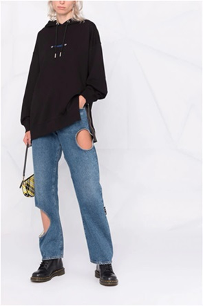 Diesel γυναικεία φούτερ μπλούζα με oversized graphic print στο πίσω μέρος