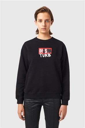 Diesel γυναικεία μπλούζα φούτερ με graphic print ''F-Angs-B3''