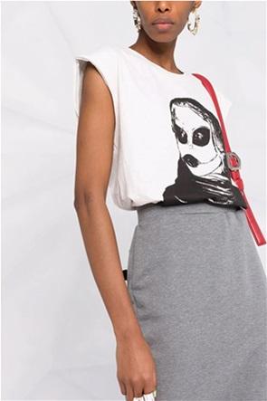 Diesel γυναικεία μπλούζα αμάνικη με graphic print