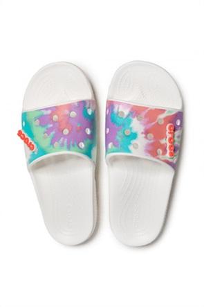 Crocs unisex σαγιονάρες slides με tie-dye print