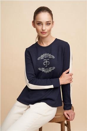Alexander & Jacob γυναικεία μπλούζα με logo print