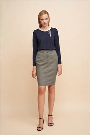 Alexander & Jacob γυναικεία mini φούστα με καρό σχέδιο